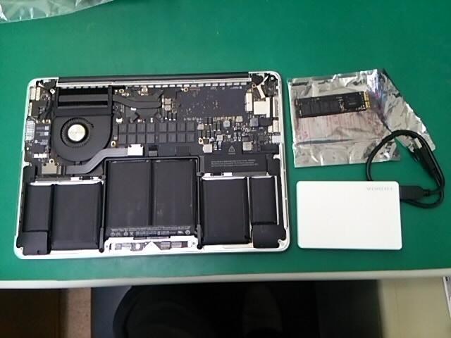 3_外したSSDから外付HDDデータコピー